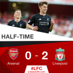 HALF-TIME: A pair of fine Woodburn goals give #LFC U23s a two-goal cushion at the break. https://t.co/DPmOJ9KND4