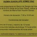 @VivoEnCancun @jmartinsamano @AytoCancun Se solicita Sangre A+ para la bebé Rubí, IMSS 510 https://t.co/xeszPysp9O