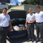 Benedictine Cadets collected two cars full of supplies to help the flood victims in Louisiana. #Savannah #SAVforLA https://t.co/kAbYhtj66D