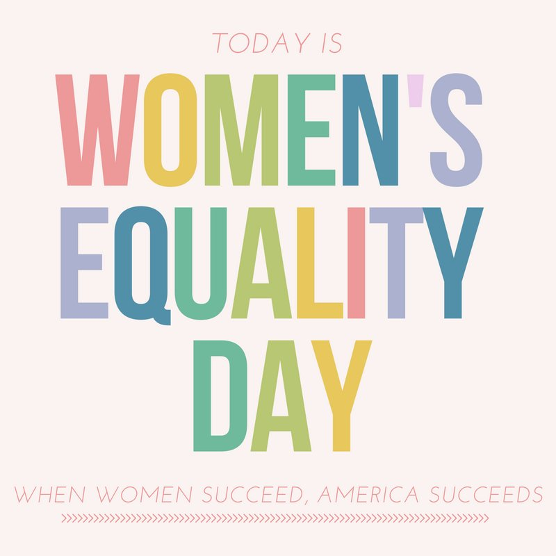#WomensEqualityDay commemorates right to vote; let's keep fighting for equal pay & full healthcare access & rights. https://t.co/kpk0WUK4lo