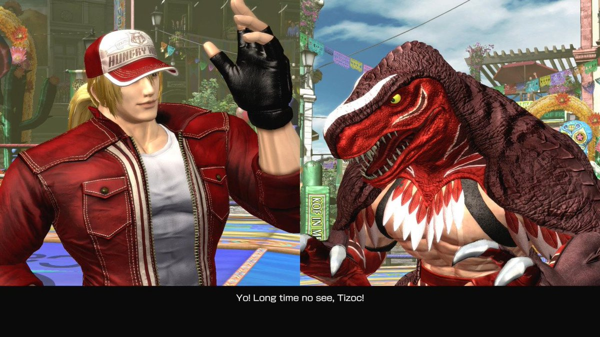 I love this nod to Mark of the Wolves from King of Fighters XIV (via NeoGAF). Game's exceeded my high hopes so far. https://t.co/ShfFOzxQY7