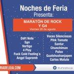 ¡Música para todos los gustos! Hoy desde las 15:00 Maratón de Rock en @LaFeriaDeLoja. #187FeriaDeLoja https://t.co/yA7yZEeyCL