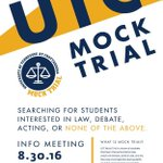 Join UTC Mocktrial!!  Info Session: Tues 8/30/16 @8:30pm UTC Guerry Center Reading Room (directly above Crossroads) https://t.co/2PXoi2Kv13