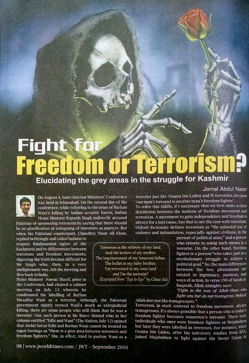 one persons freedom fighter is another 'one person's terrorist is another person's freedom fighter' is not wholly useless it serves the important purpose of drawing attention to two issues that have to be incorporated when trying to define the concept.
