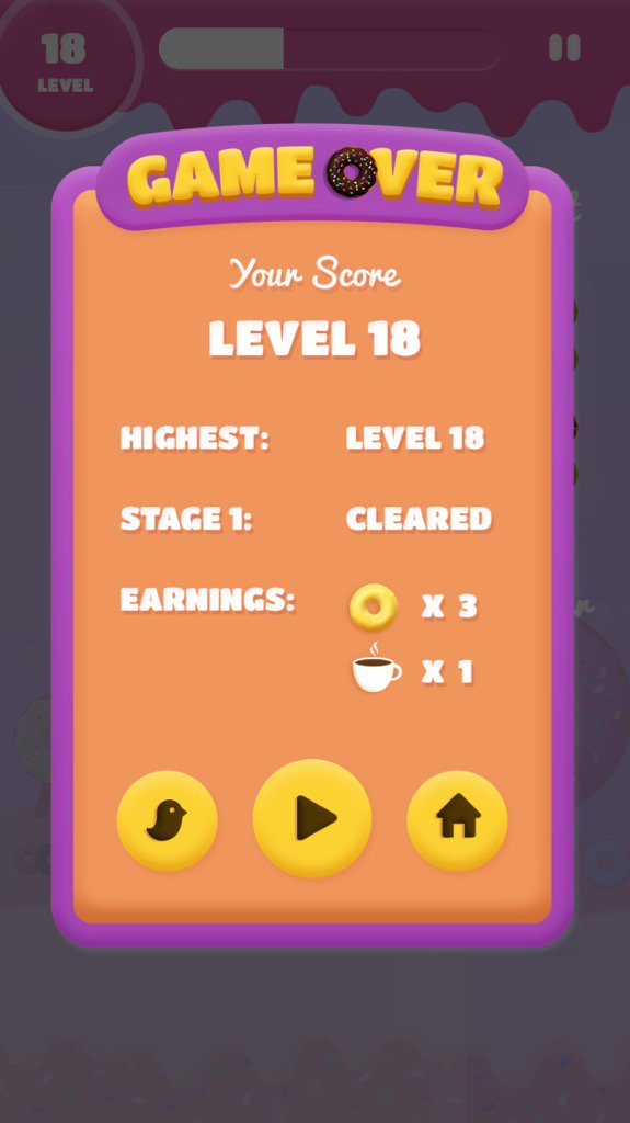 One more level and I would've beat @d_trix at @DonutDazzle! #DonutDazzle