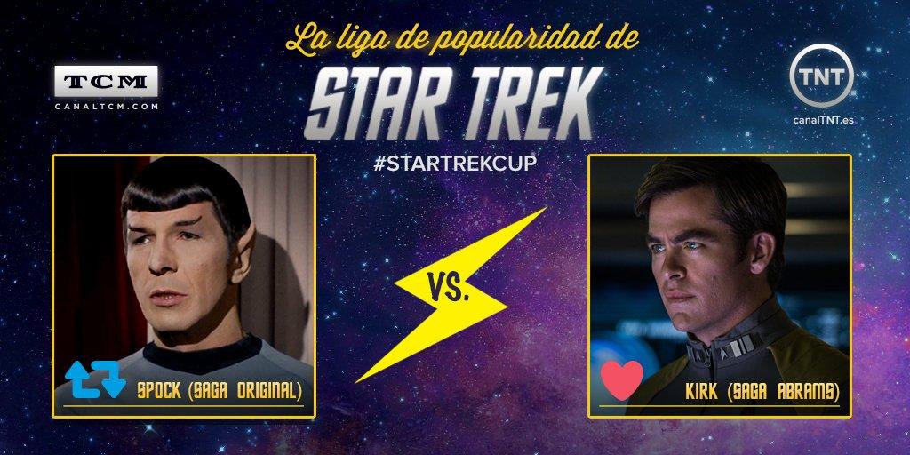 Es el momento de la verdad: ¡la gran final de la #StarTrekCup! Vota por Spock clásico (RT) o Kirk moderno (LIKE) https://t.co/vlVEeaOhl8