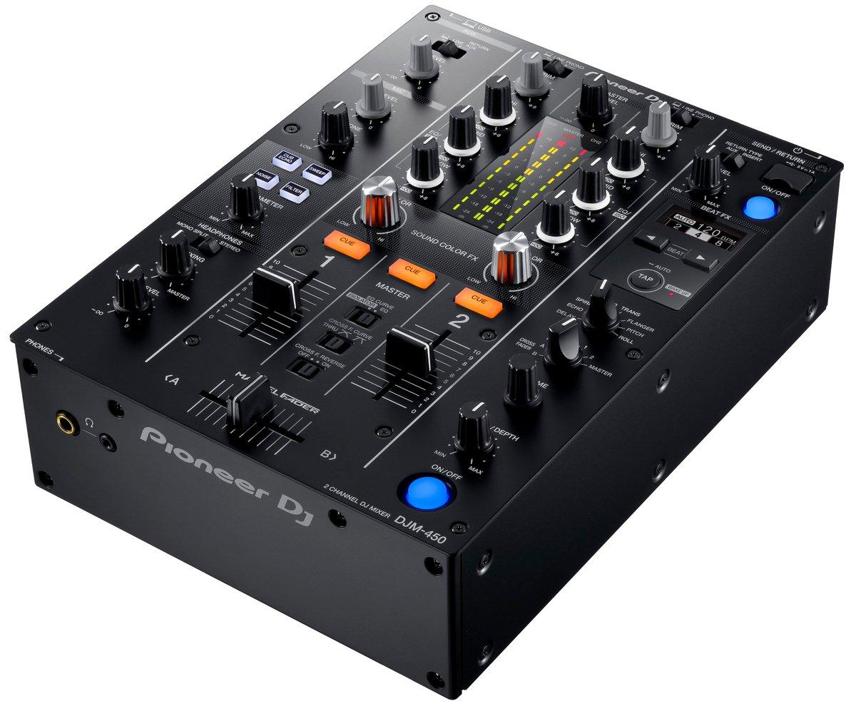 ホームユース向け2chミキサー「DJM-450」を発表しました!「DJM-900NXS2」と同等の操作性を実現する、様々な機能を搭載している他、「rekordbox dj」「rekordbox dvs」のライセンスも同梱しています! https://t.co/pIftE5FE6m
