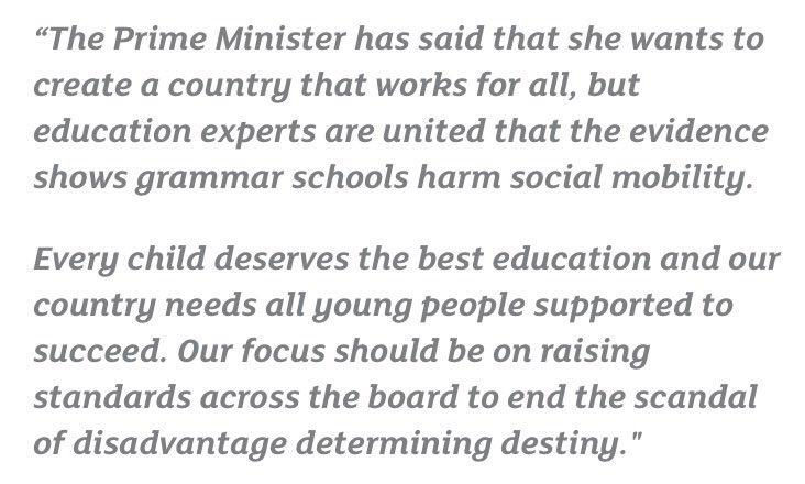 Statement from @TeachFirst and @Samfr on grammar schools: https://t.co/YLHmtgNQ24 https://t.co/RNSBQzfdth