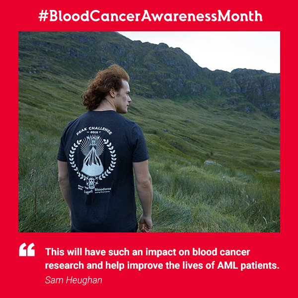 Massive thanks to @SamHeughan and all participants of @MyPeakChallenge 2016 for raising £225k to beat #bloodcancer! https://t.co/WOMLSlUzeL