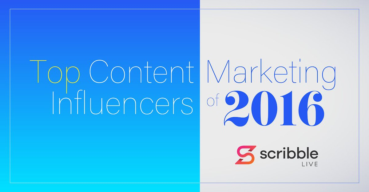 Top Content Marketing Influencers of 2016 feat. @PamellaNeely, @janlgordon & @Sam___Hurley https://t.co/odEVOJqUiY https://t.co/v0j4mqlSgZ