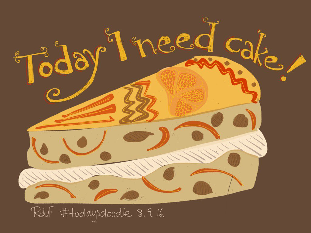 #todaysdoodle #madewithpaper I need cake! Itsone of those days! 😰 https://t.co/lb6MRVm4Z5