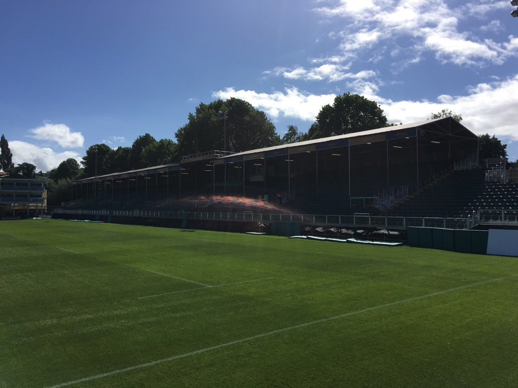 G8 new temp stand at the rec, really close to the pitch which will enhance an already fantastic atmos, 1k extra fans https://t.co/CFqls10yMc