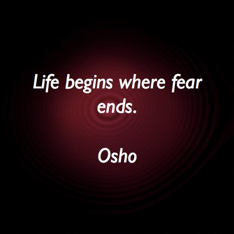 """""""Fear Always Means the Fear of the Unknown"""" Osho #life #fear https://t.co/bL7EIjfV62"""
