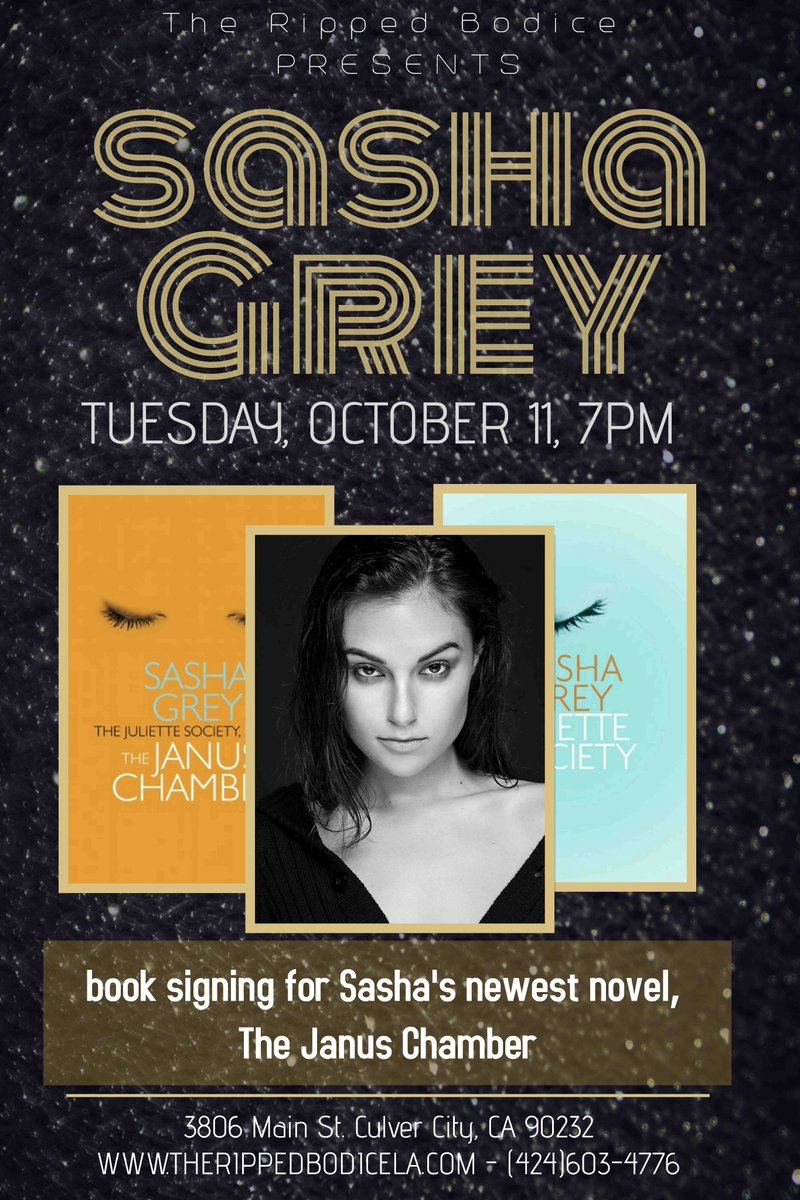 I'll be signing copies of my new novel :The Janus Chamber in LA: 10/11