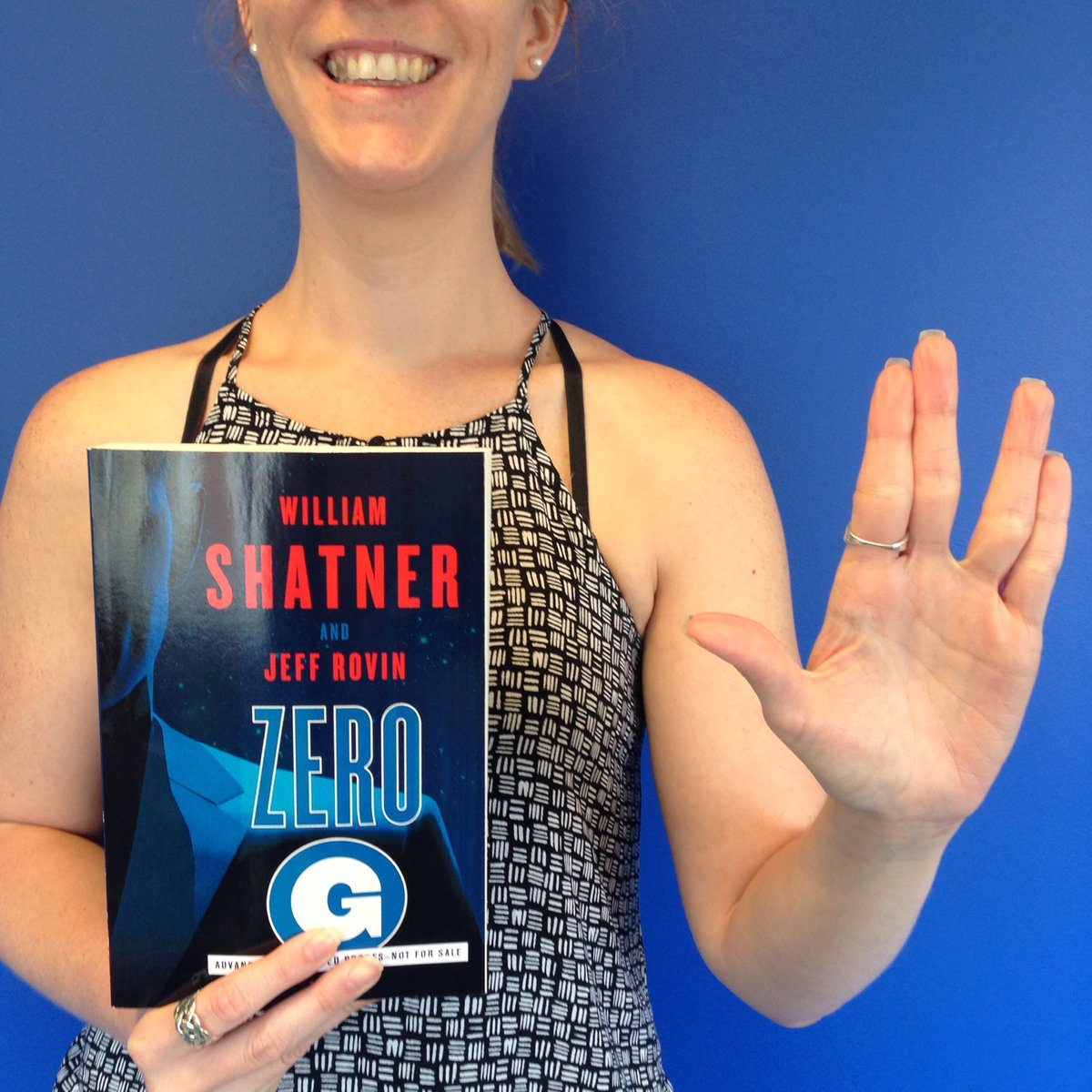 To celebrate #StarTrek50 we're giving away 3 advance copies of Zero G by @WilliamShatner! RT to enter.