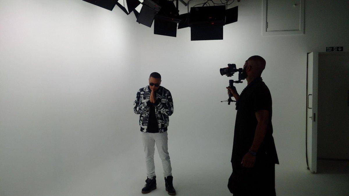 Shooting @DJIronik 'A1' feat @Mercston  and @KingPrxject with @Rick_Frost @JeddRoberts @JB_3STARZ @PriceStudiosLtd https://t.co/AGzemJ26C9