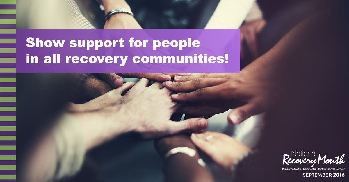 #RecoveryMonth is going strong all around the country! RT to show your support for #recovery communities everywhere https://t.co/XCl9BSl8U6