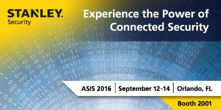 We're looking forward to having you Experience the Power of Connected Security at #ASIS2016 #STANLEYConnects https://t.co/xMqkw2NTna