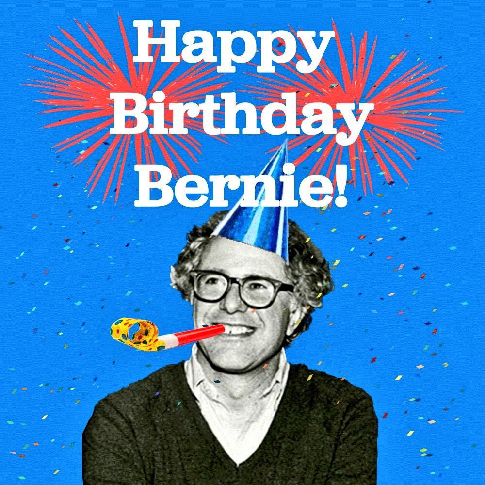 Happy 75th Birthday to @BernieSanders‼️ https://t.co/950NZKvU4F