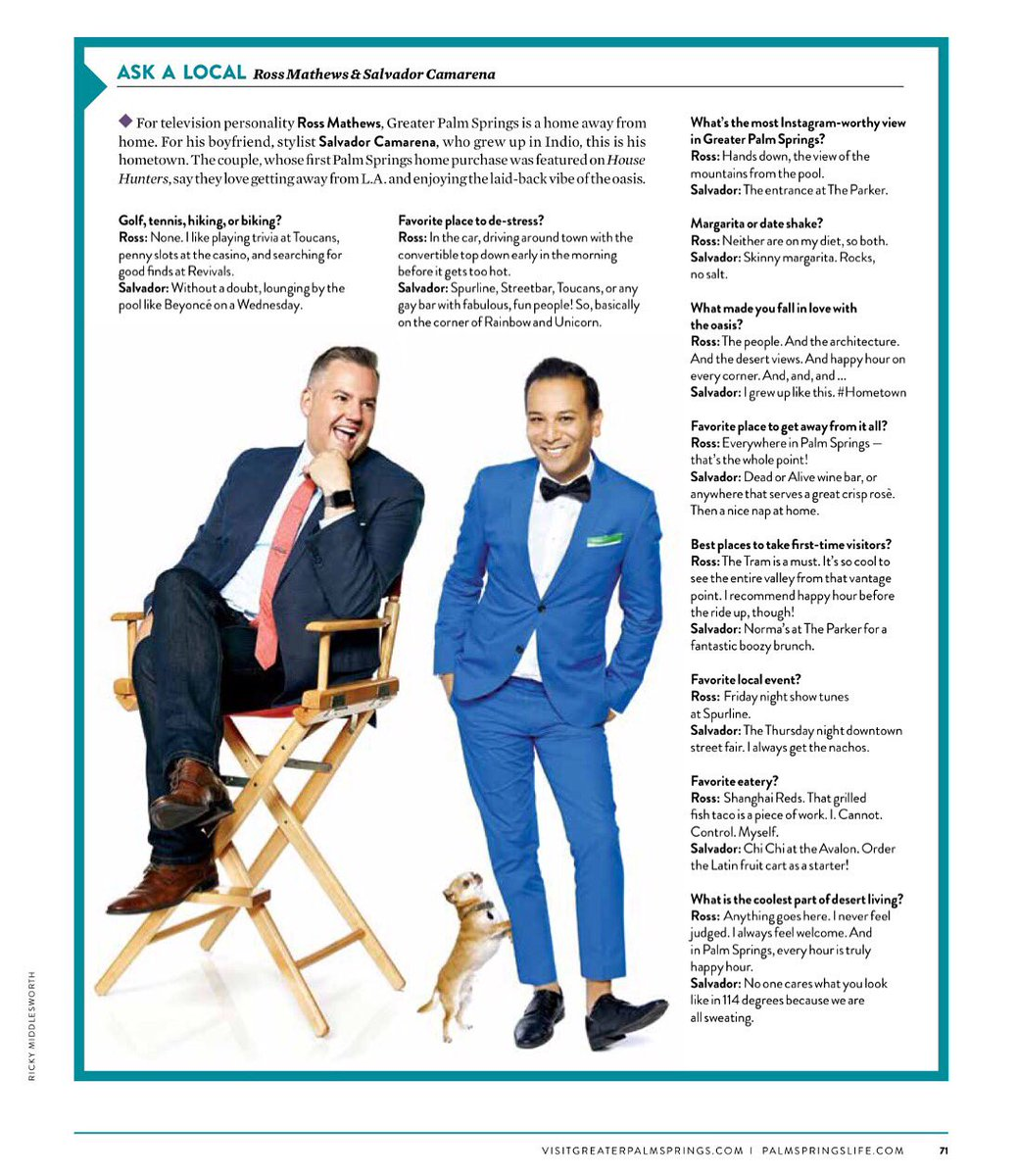 Ever wondered what we actually do in #PalmSprings? Our secrets are out in this months issue of @palmspringslife