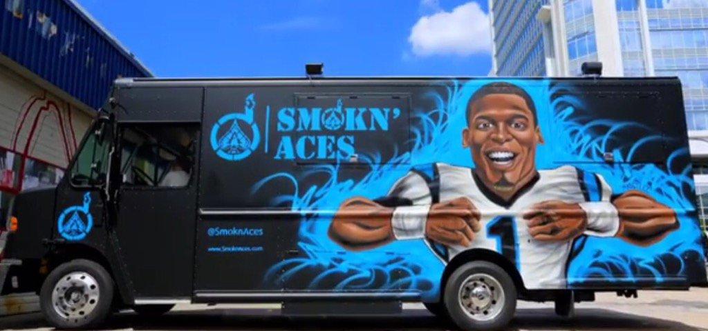 Cam Newtons Food Truck Smokin Aces Will Serve Fish Chicken