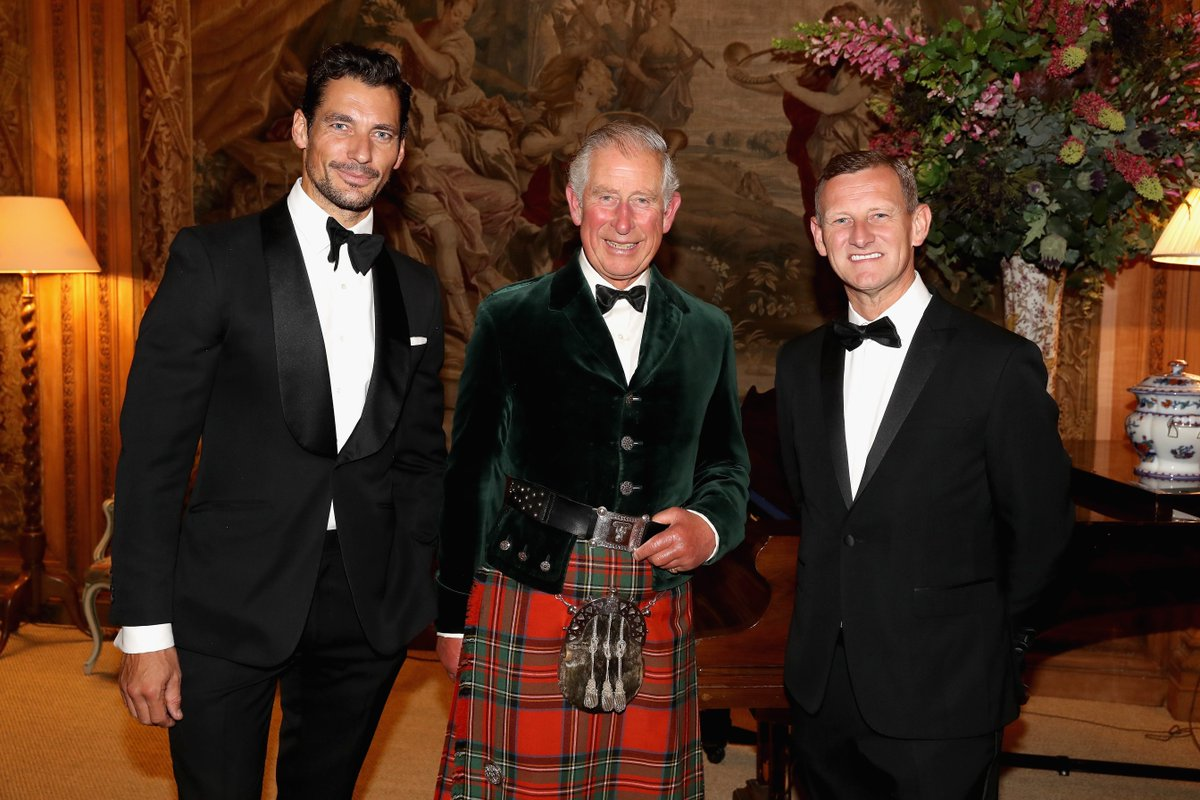 HRH The Prince of Wales, @marksandspencer CEO Steve Rowe,@DGandyOfficial ahead of the Dumfries House Wool Conference https://t.co/JfFZiGaru9