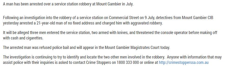 mount gambier single men A man has been arrested for allegedly damaging property in mount gambier two men to face court local-service-area/limestone-coast-local-service-area.
