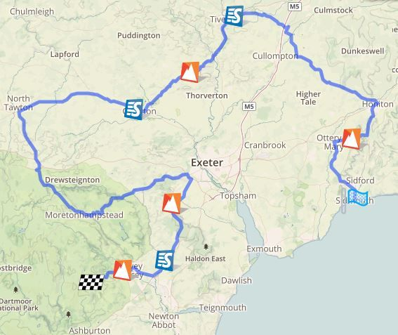 You've got 93 miles to choose from if you're looking for somewhere to watch today's Devon Stage of #tob2016 https://t.co/DbqVIM529B