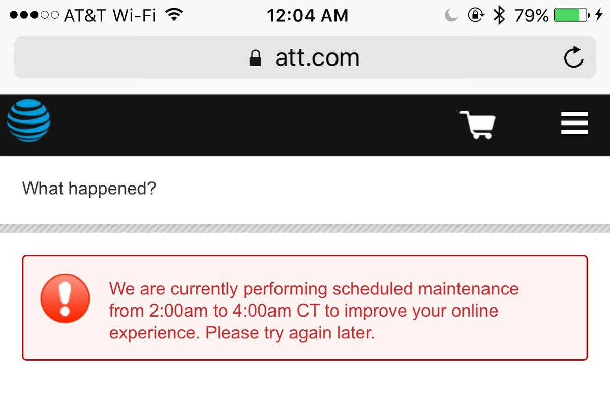 LOL at AT&T for the scheduled maintenance right in the middle of the iPhone 7 pre-sale event. #ATT #FAIL https://t.co/6SNYnXmKYV