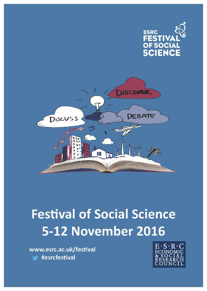 Our Festival of Social Science, 5-12 Nov. Hundreds of free events across UK. #esrcfestival https://t.co/neWn8x3ixl https://t.co/4w0PnbOSbb