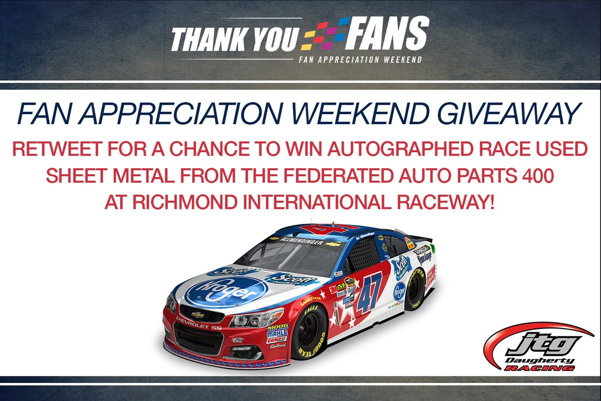 #ThanksFans @RIRInsider weekend is finally here! We want YOU to win some @AJDinger sheet metal! RT for your chance! https://t.co/txBpNEKN8i