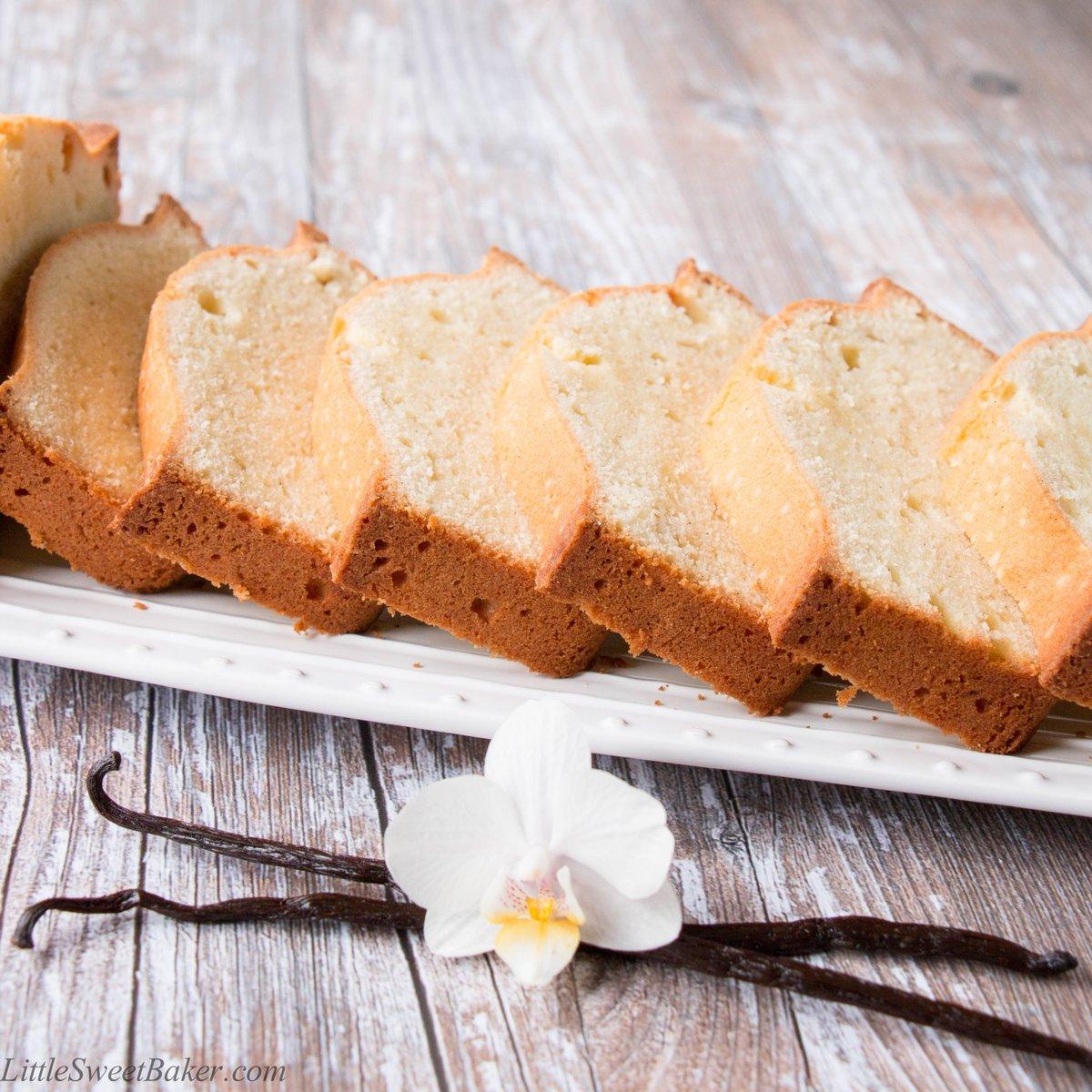 Vanilla Bean Pound Cake - rich, buttery & fragrant