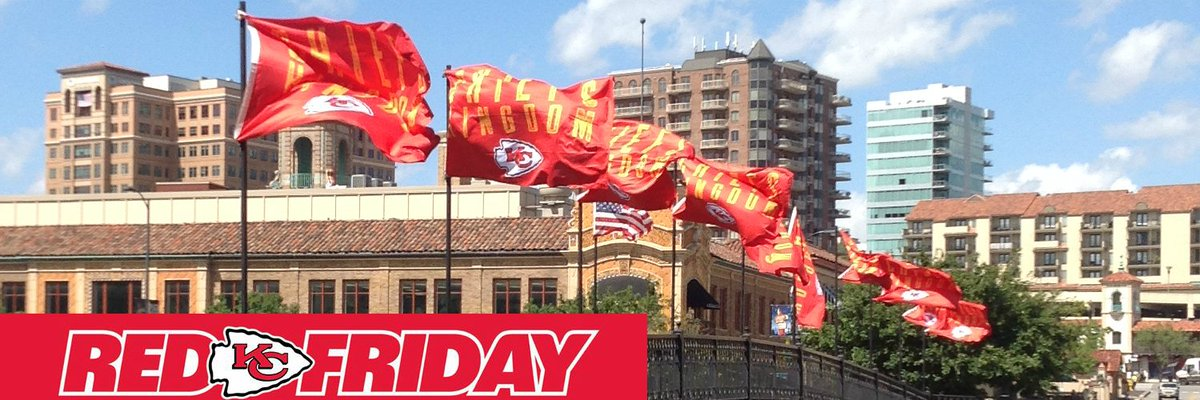 Kansas City is ready for #RedFriday! #ChiefsKingdom https://t.co/1CRoB383kb