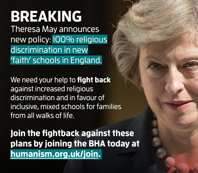 These plans for 100% religious selection must be stopped. Agree? Then join the fightback: https://t.co/1ibdb9dMQy https://t.co/xX7CxbjLcA