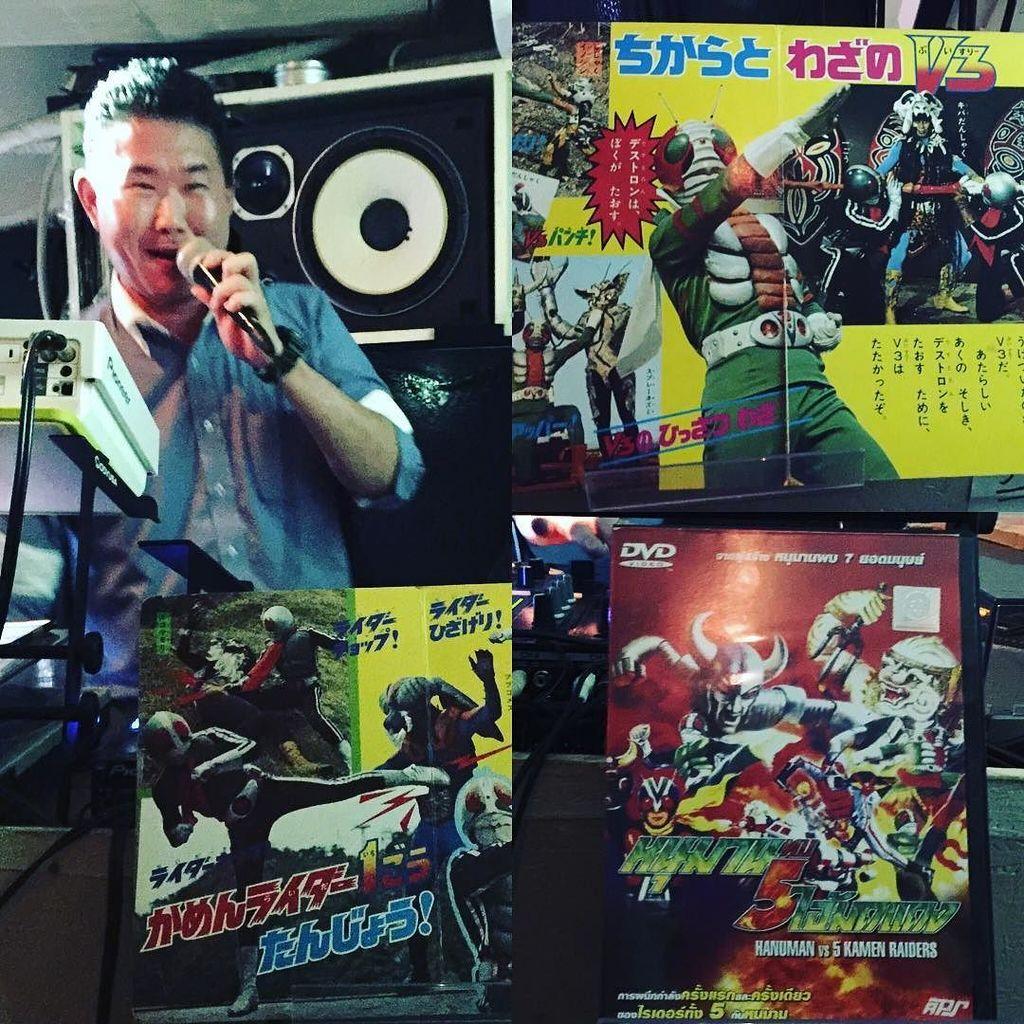 DJ ロボ石丸さんは、本で繋ぐ特撮DJ,解説入りたのしい! タイで無許可で作られた仮面ライダーの話おもしろかった! #薬酒 -Instagram https://t.co/Dvs75TsEzq https://t.co/uH4ldwb5cx