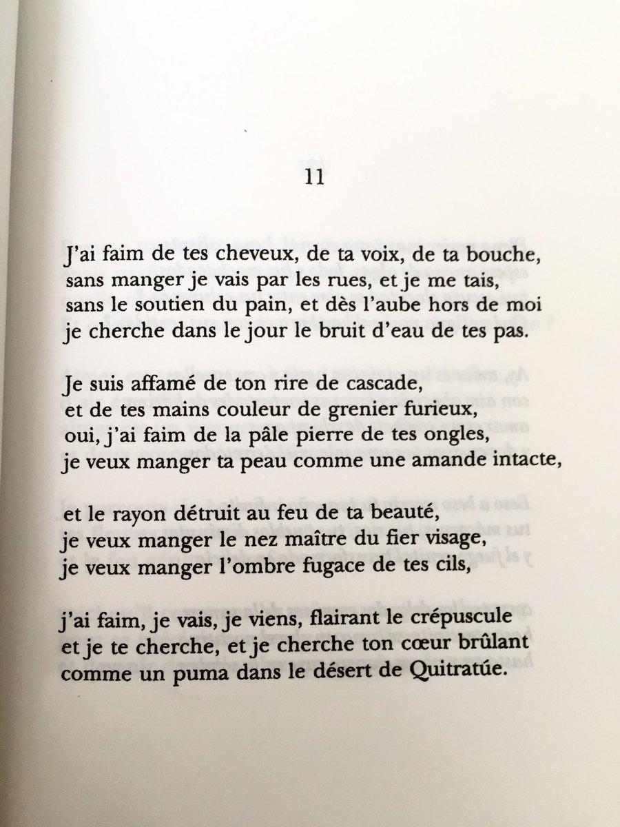 Je suis affamé de ton rire de cascade Pablo Neruda, La Centaine d'amour https://t.co/GIJ5bFYA0t