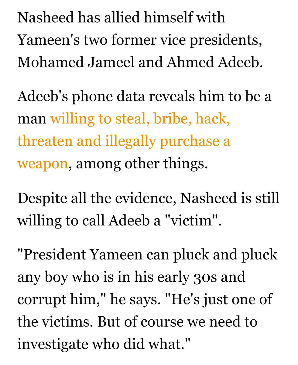 When @MohamedNasheed says that Yamin can pluck any boy in his early 30s, it is an insult to the youth population. https://t.co/pSqbJiaQR7