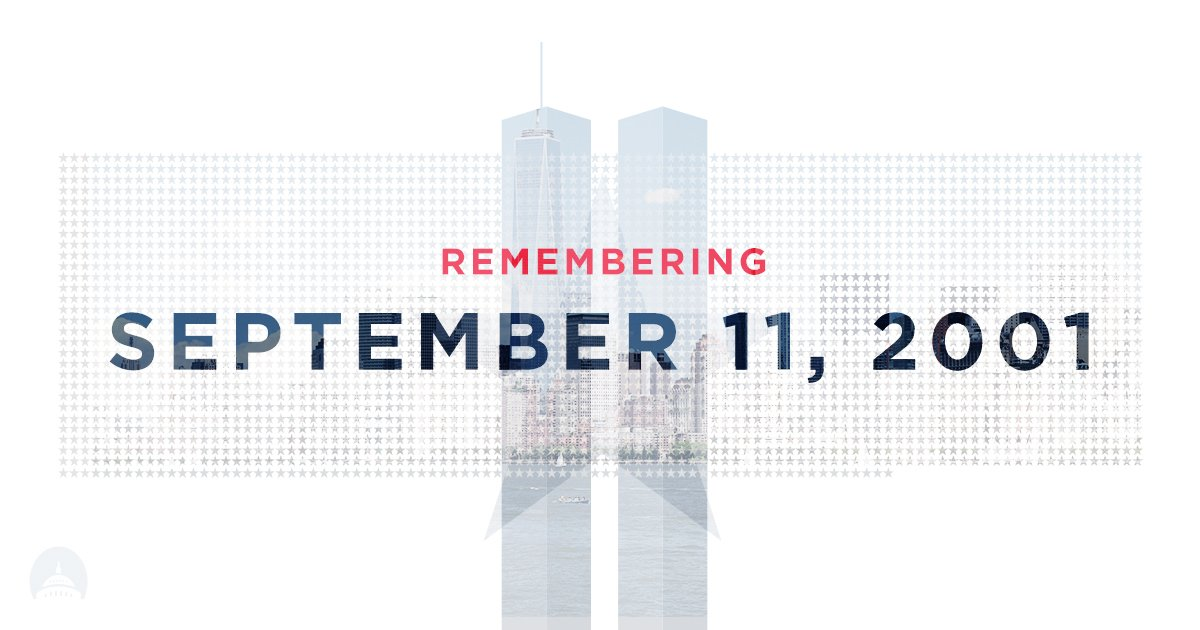 Remembering all those who lost their lives during the tragic attacks 15 years ago today. #Remember911 https://t.co/sKJe52Bs9P