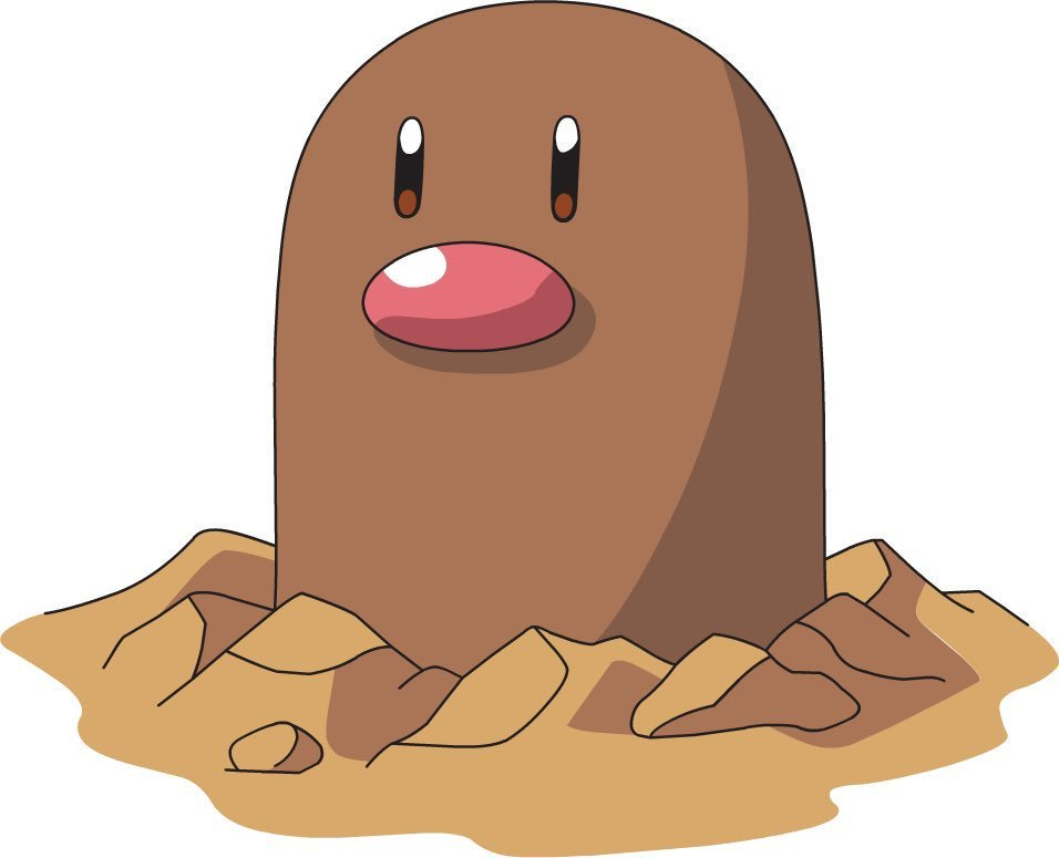 Is Diglett's nose is actually a mouth with one tooth? You'll never see him the same way again. https://t.co/YtrJTkV7Pu