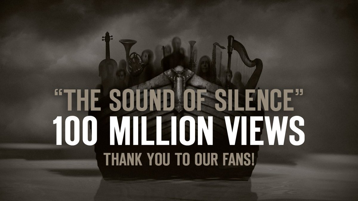 """Our video for """"The Sound of Silence"""" has passed 100 million views on @YouTube! Thank you for the amazing support! https://t.co/w4e60l8Ahy"""