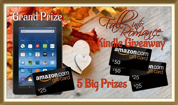 Want to win a #Kindle? How about gift cards? Then join the #FallIntoRomance event today! https://t.co/cLTysLvPkW https://t.co/HfobAVHCFy