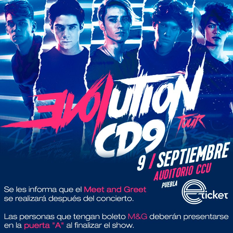 Recuerden que el M&G con @CD9 en #Puebla se realizará al finalizar el concierto.  Comparte tus fotos con nosotros. https://t.co/vxcAC0rH89