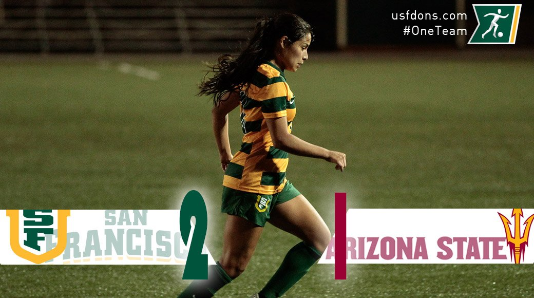 WSOC | @WomensSoccerUSF rallies late for a 2-1 2OT win over ASU w/ Micaela Mercado's GW goal in 109th minute! https://t.co/U6RPzMY0ZN