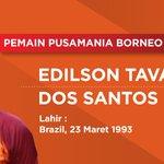 (1) Edilson Tavares, kelahiran Brazil, 23 Maret 1993. Dia salah satu pemain asing muda yang berlaga di #TSC2016ID https://t.co/p45mUtA0q6