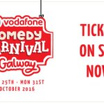Tickets on sale NOW every1 for the #vodafonecomedycarnival Galway!Visit our website https://t.co/dob6lCttUz for tix! https://t.co/FBzVTvQXw8