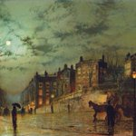 I give you a Victorian prospect of Heath Street and Hampstead Hill in #London c.1881 by John Atkinson Grimshaw. https://t.co/QkT0StUvIA