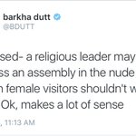Pls let this foreign female visitor to wear a skirt. Anyways it wont matter considering her Burka will be there. https://t.co/9TJkSixdGF