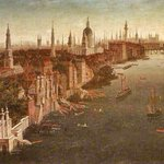 Behold, a prospect of #London with the Thames, York Steps, St Pauls and Old London Bridge as they appeared c.1757. https://t.co/YWhP9tJ8PX