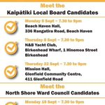 Meet the Candidates meetings for Kaipatiki Local Board and North Shore  Council Date &Times https://t.co/LIQF2xRuXT https://t.co/lG6frcYQqh