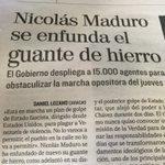 El Mundo de España describe el miedo de Maduro al aumentar REPRESION y violencia contra marcha pacífica 1S https://t.co/XZnh1FO7yU